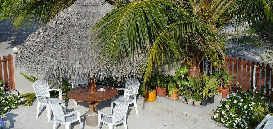 Staytravelling Malediven Dhigurah Noovilu Garten