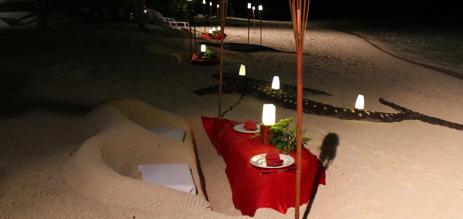 Staytravelling Malediven Romantic Dinner