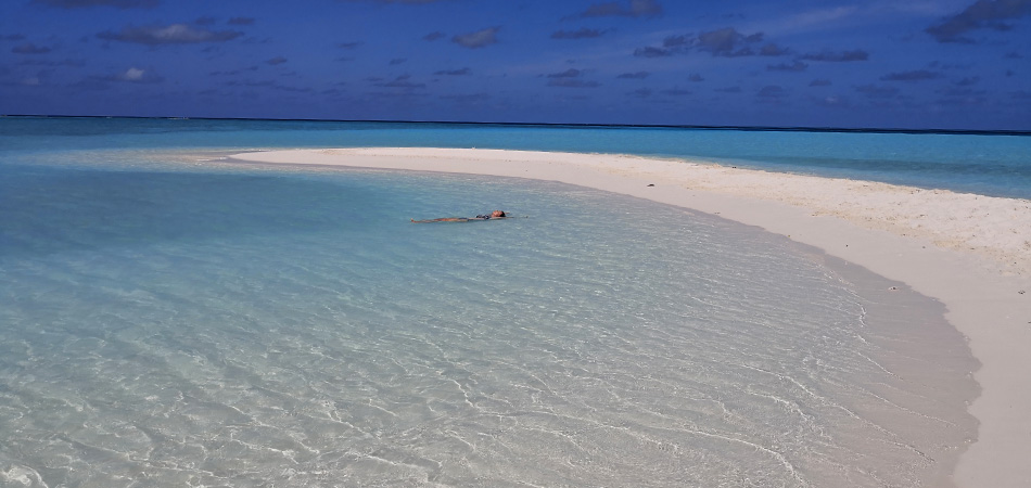 Staytravelling Malediven Sandbank Picnic